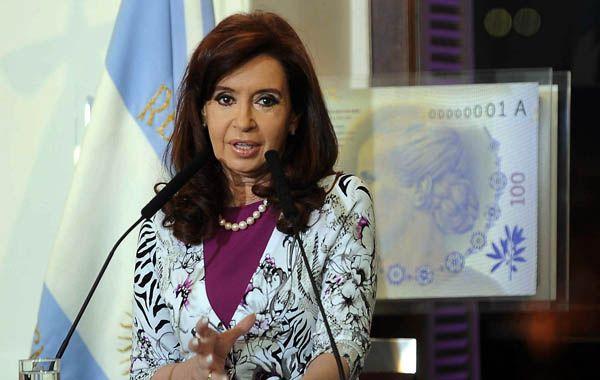 """La presidenta dijo que una vez presentada la demanda """"depende de que Estados Unidos acepte la jurisdicción de La Haya""""."""