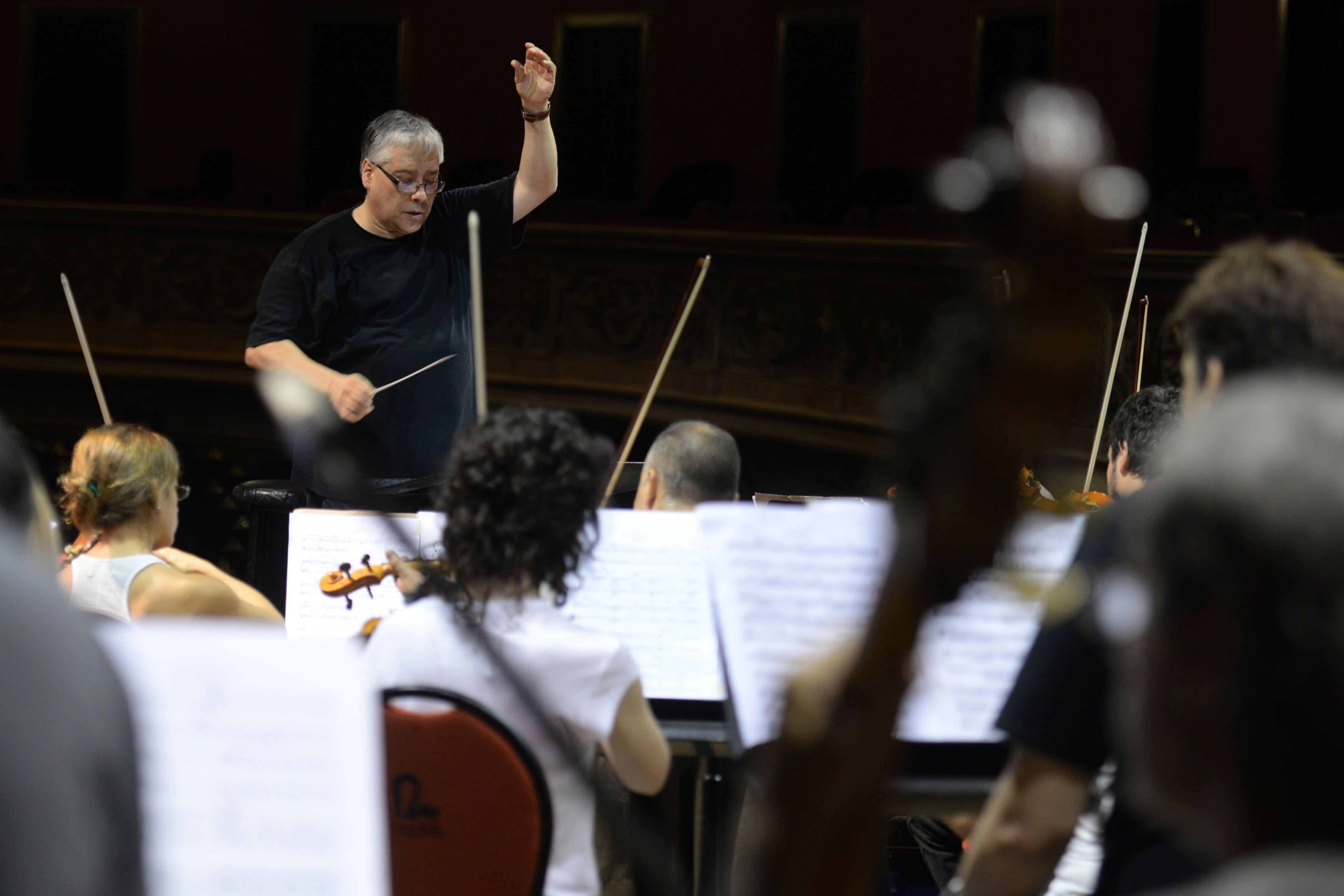 De balance. Del Pino habló de su primer año frente a la orquesta. (Celina Mutti Lovera / La Capital)