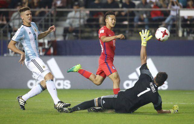 Argentina perdió ante Corea del Sur y quedó al borde de la eliminación