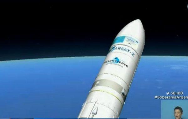 El satélite fue lanzado a las 17.29