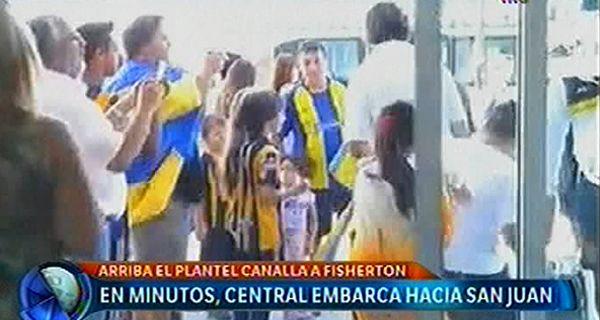 El plantel de Central viajó a San Juan con la ilusión de alzar bien alto la Copa Argentina