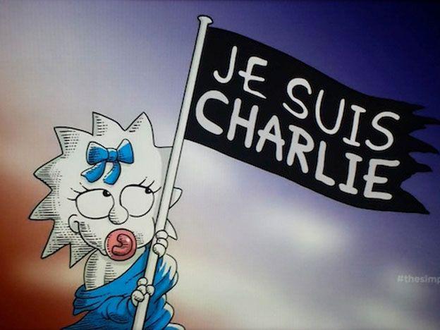 Homenaje amarillo: Los Simpson también están con Charlie Hebdo