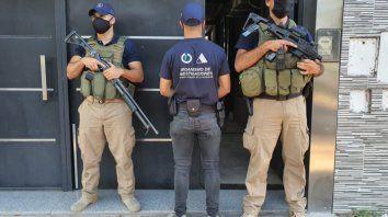 El domicilio del exjefe policial Marcelo Villanúa allanado este sábado en horas de la mañana.