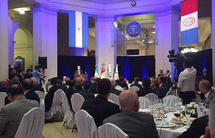 Macri le pidió apoyo a los empresarios santafesinos para lograr la pobreza cero.