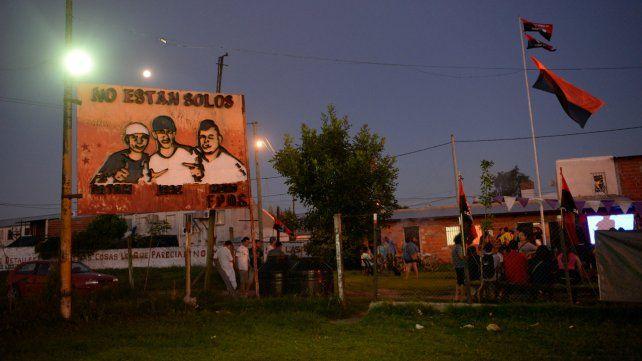 Recuerdo. El lugar del triple crimen ocurrido el 1º de enero de 2012.