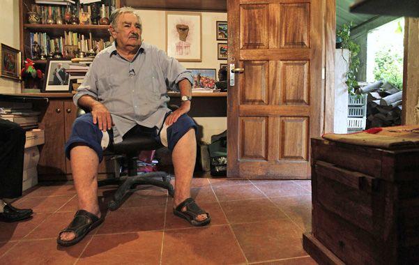 """En casa. """"Pepe"""" Mujica reflexionó sobre la adicción a las drogas."""
