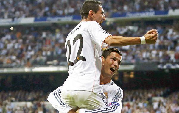 El rosarino marcó dos goles en el 4-0 de Real Madrid.