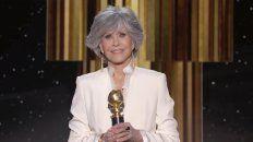Jane Fonda dio un emotivo discurso al agradecer el Premio Cecil B. DeMille.
