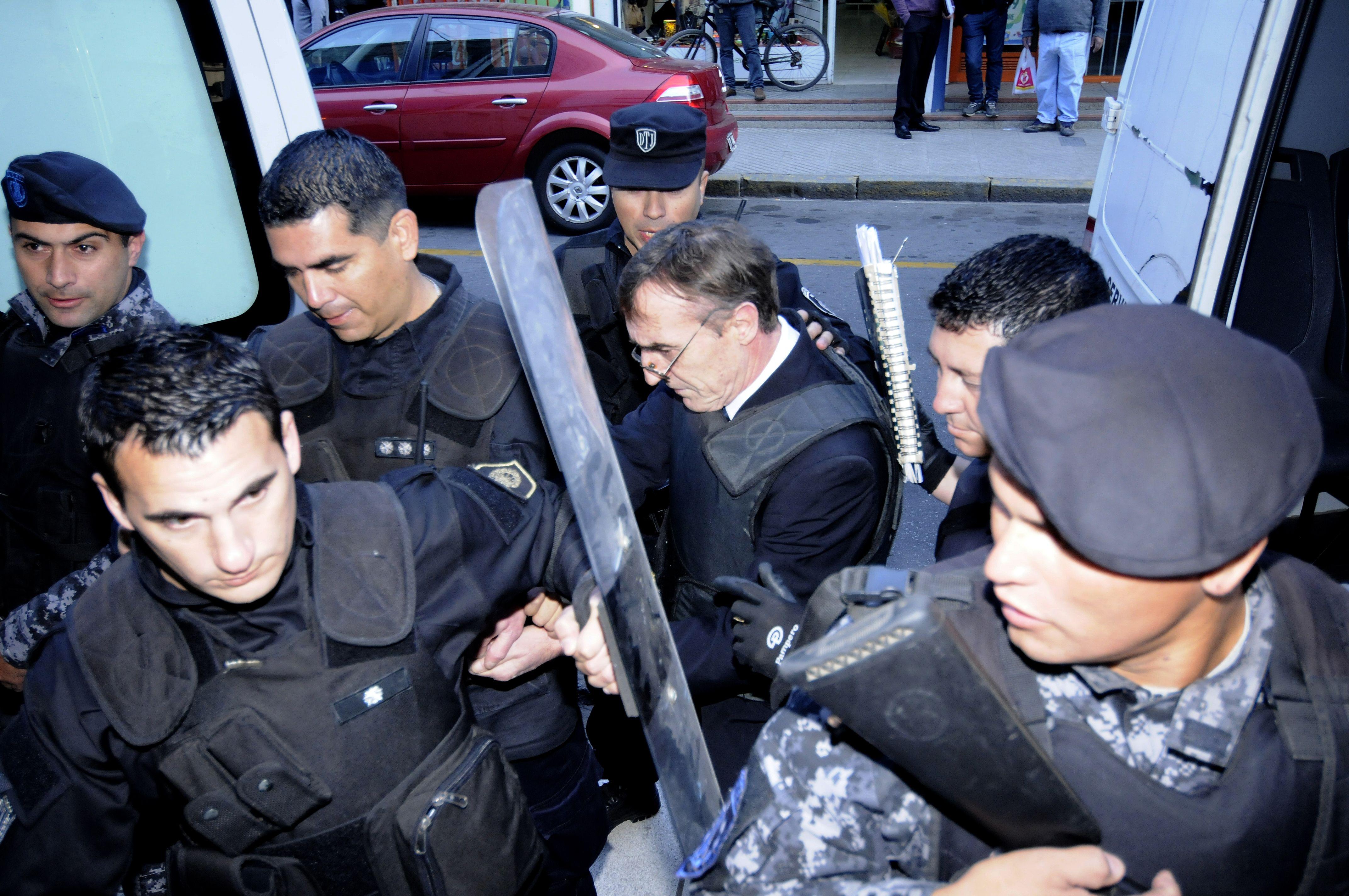 Al banquillo. El ex titular de la policía santafesina es juzgado desde el lunes en la capital provincial.