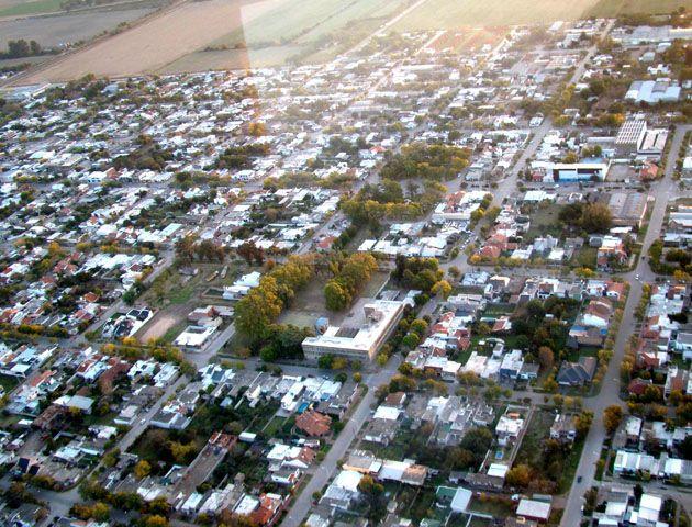 Vista aérea de la localidad de Armstrong.