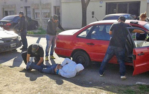 En la calle. El arresto de Pablo M. se produjo en Cerrito al 6400.