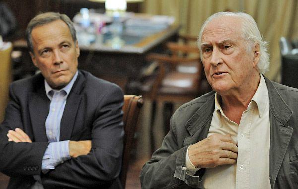 """Rubén Giustiniani y Fernando """"Pino"""" Solanas vetaron a Macri en el armado de un futuro frente electoral para 2015."""