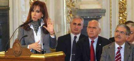 Cristina anunció que la plata de las retenciones irá para un plan social