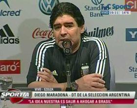 Diego dijo que en la selección salió el sol