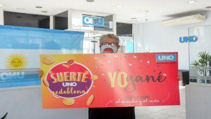 Jorge Portorreal tiene 81 años, ganó con Suerte UNO.
