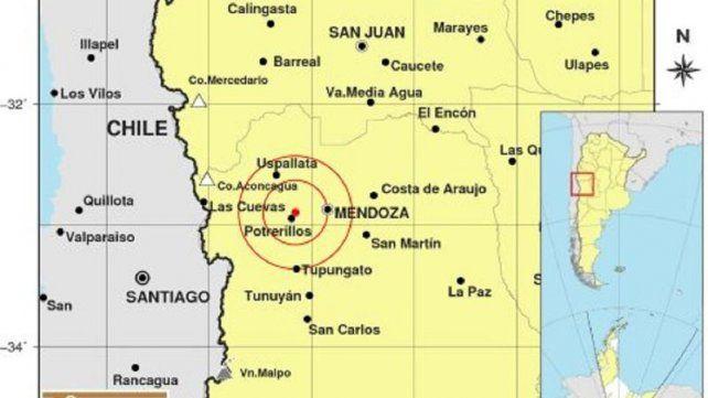 Se registró un sismo de magnitud 4.0 en Mendoza