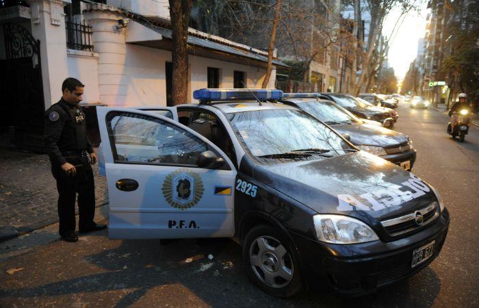 Custodiados. Los policías federales custodiarán las calles rosarinas. (Foto: A. Amaya)