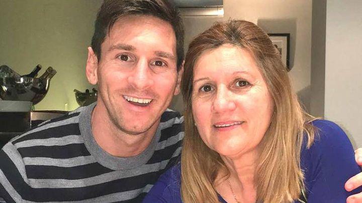 Leo Messi y su mamá, María Laura Cuccittini.
