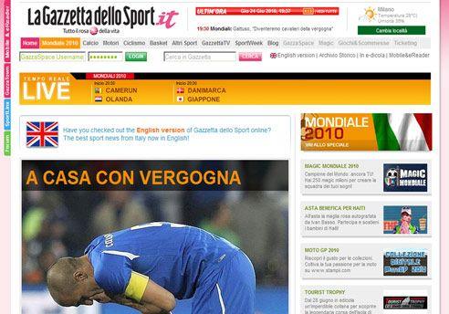 La prensa italiana habla de un escándalo