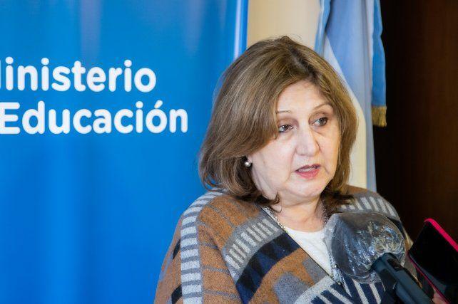 La ministra Adriana Cantero.
