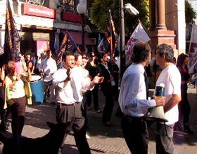Bancarios pararon y marcharon en reclamo de mejoras salariales