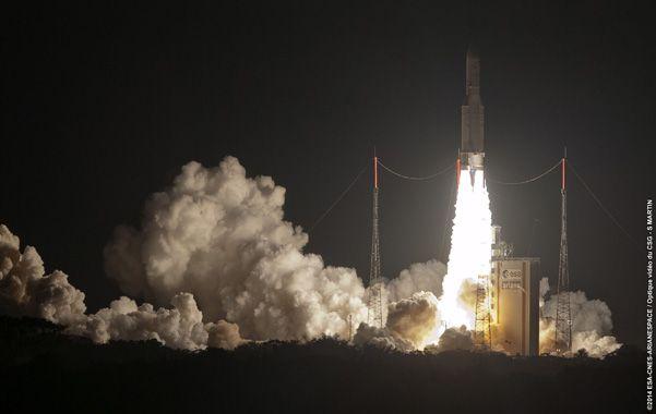 El Arsat-1 fue puesto en órbita por el cohete Ariane 5.