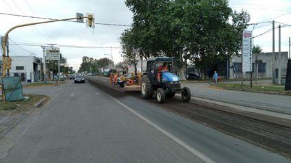 Las obras se realizan desde el cruce con ruta provincial 92 y calle España.