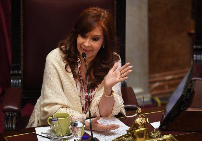 La presidenta del Senado de la Nación