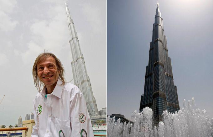 El hombre araña francés escaló el edificio más alto del mundo en Dubai (Fotogaleria)