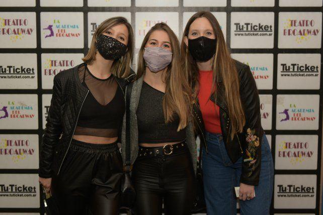 Eliana González, Agostina Quiroga y Daiana Franco.