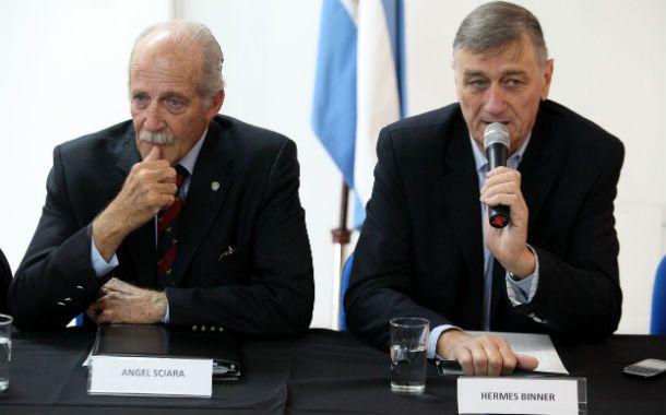 Referentes históricos. Binner y Sciara ya compartieron gestión en Rosario y en la gobernación de Santa Fe.