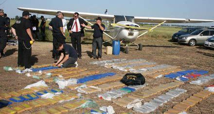 Aterrizó una avioneta con más de 300 kilos de marihuana en Pergamino