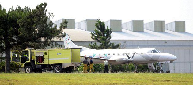 La aeronave en la que viajaban los directivos y utileros