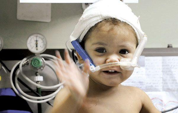En el Vilela.  Valentina continúa internada en terapia intensiva.