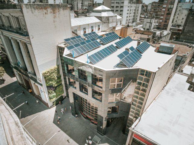 El techo del edificio de peatonal San Martín al 700