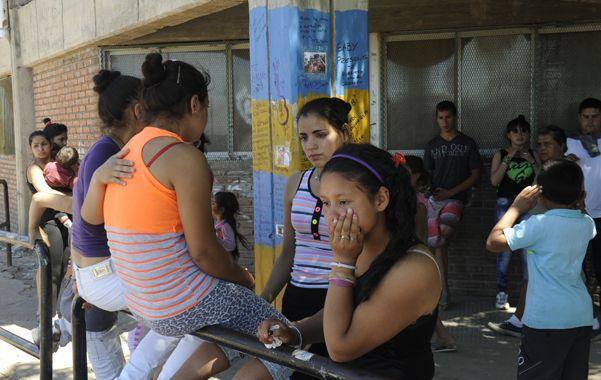 Sin consuelo. Gabi fue velado ayer en la Escuela Luisa Mora de Olguín