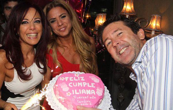 Marina Calabró y Fabián Rossi felices en el cumple de Iliana