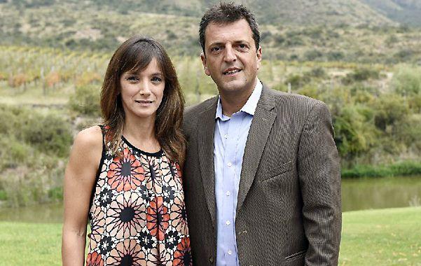 Sergio Massa y su esposa