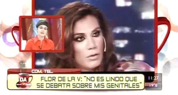 Flor De la V respondió con furia a la polémica sobre sus genitales