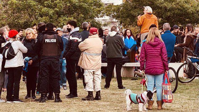 El primer acto del grupo Médicos por la Verdad se realizó el pasado domingo en Moreno y el río.