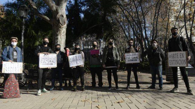 Los trabajadores culturales expusieron su situación frente a la Municipalidad.