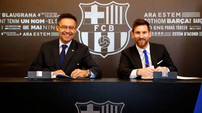 Bartomeu ofreció irse de Barcelona para que Messi se quede