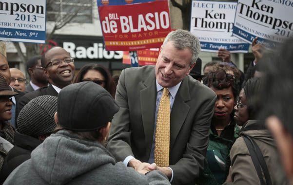Giro político. El demócrata De Blasio prometió dar una bocanada de aire fresco a la Gran Manzana.