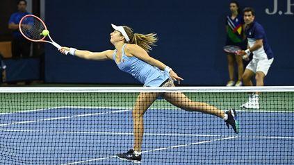 Podoroska y Machi González se complementaron muy bien en su primer partido juntos.