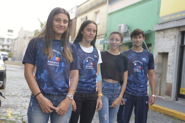 Representantes. Los paranaenses estuvieron ayer en UNO y se mostraron felices por esta clasificación. Rodríguez