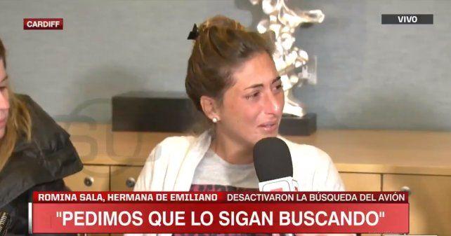 El desgarrador pedido de la hermana de Emiliano Sala para que no cese la búsqueda