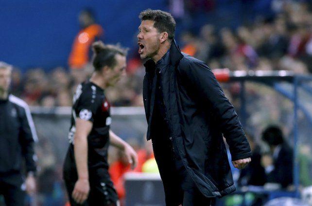 Una cámara captó la locura con la que Simeone vivió el final partido del Atlético de Madrid