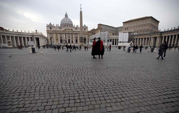 La Plaza de San Pedro. El Vaticano aguarda con expectación la búsqueda del reemplazante de Benedicto XVI.