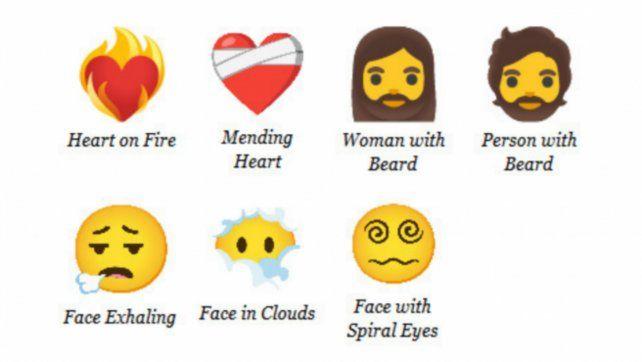 Entre los nuevos emojis se cuentan un corazón en llamas