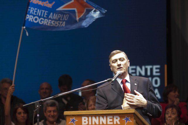 Binner participó de la puja por la Presidencia, en 2011, bajo el paraguas del FAP.